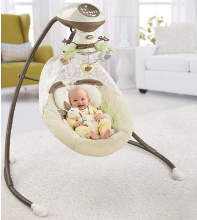 Plug in baby swing for colic - Fisher-Price My Little Snugabunny Cradle