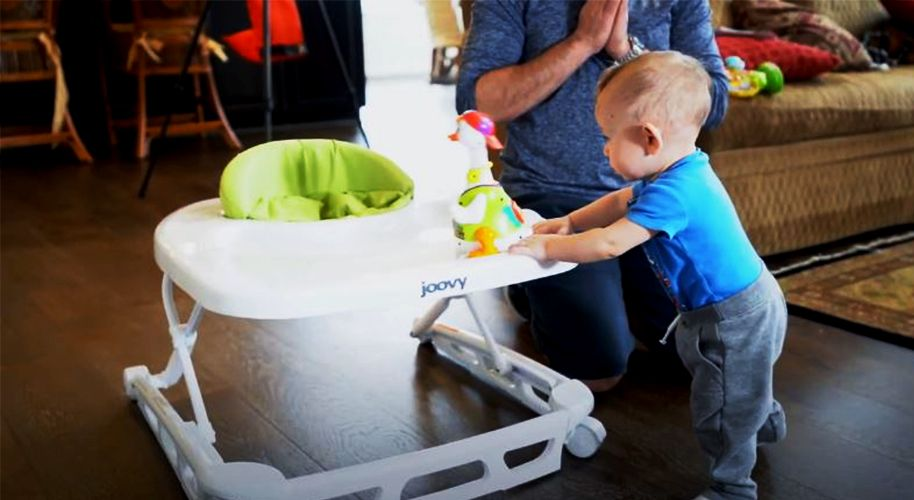 When can a baby start using walker